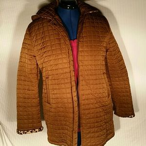 L.L. Bean Brown Quilted Jacket. M